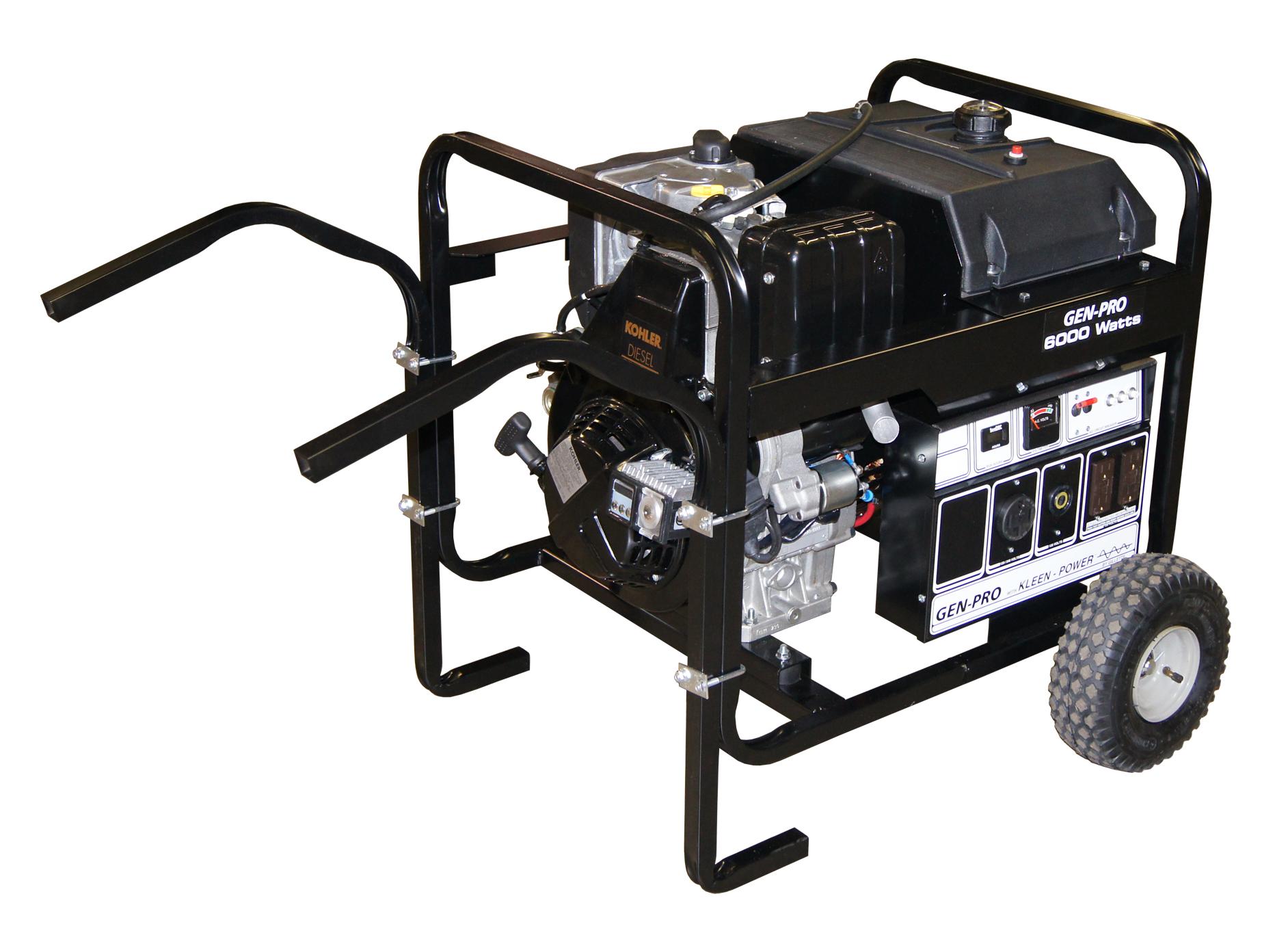 GPED 65EK GenPro Portable Generator 6000W 120 240Vac Kohler