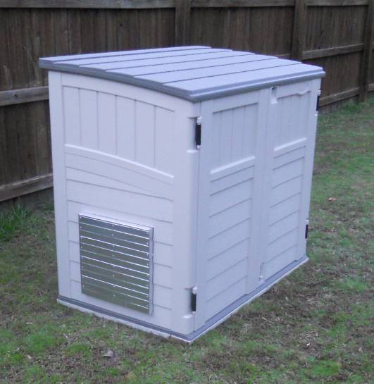 Shelter Kit Ii For Storing And Running Portable Generator Inside A Shed
