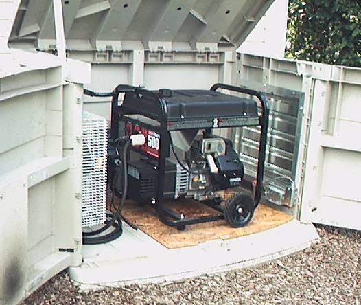 Generators on pinterest sheds screen enclosures and for Garden shed electrical kit